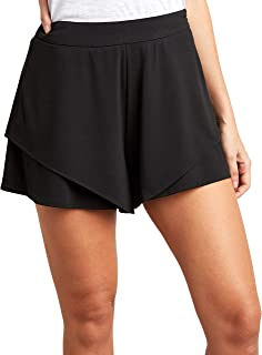 Solid Layered Flippy Shorts 80389901 For Women Closet by Styli