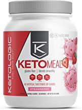 KetoLogic Keto Meal Replacement Shake Powder: Strawberry (20 Servings) – Low Carb, Keto Shake Rich In MCT Oil, Healthy Fat...