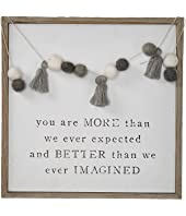 Pom Tassel Garland Plaque SQ