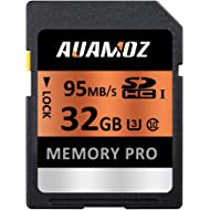 32GB SD Card, AUAMOZ Memory Pro Class 10 SDHC UHS-I Memory Card for Camera, Camcorders and...