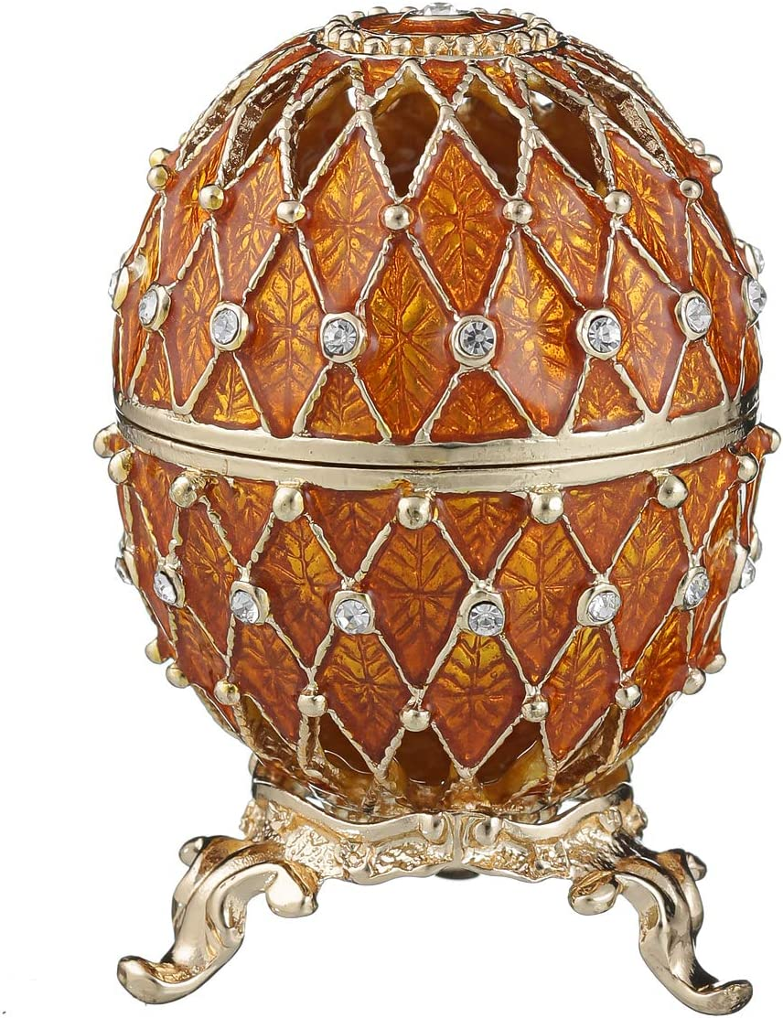 Cheap danila-souvenirs Russian Faberge Style Jewel Cheap mail order specialty store Trinket Egg Carved