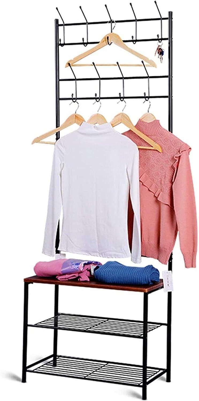 SYXYSM Wooden Coat StandPortable Max Topics on TV 85% OFF Rack Cloth Clothes Hanger