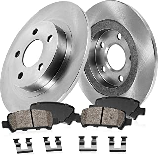 CRK12184 REAR 295 mm Premium OE 5 Lug [2] Brake Disc Rotors + [4] Ceramic Brake Pads + Hardware
