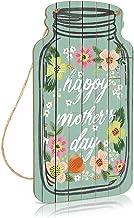 Happy Mother's Day Mason Jar Sign, vintage decoratieve wandhangende plaque, duurzaam houten bord voor boerderij, keuken, l...