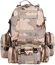 50L Military Men Backpack Tactical Camouflage Outdoor Climbing Hiking Camping Sport Bag