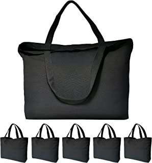 Canvas Tote Bags, 6PCS KOOLMOX Canvas Bags 12Oz Cotton Bag with Handles & Bottom