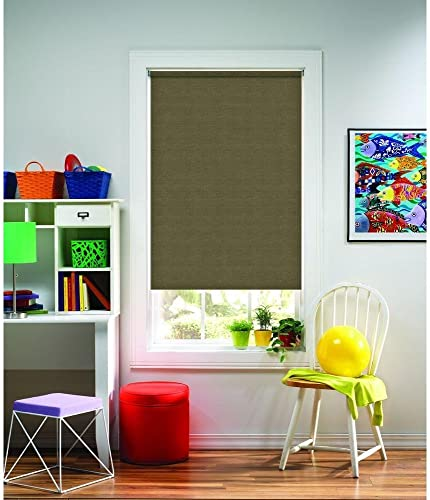 2021 Bali Cut-to-Size Bermuda Natural Light Filtering Cordless Roller Shade - high quality 55.25 in. W lowest x 72 in L online sale