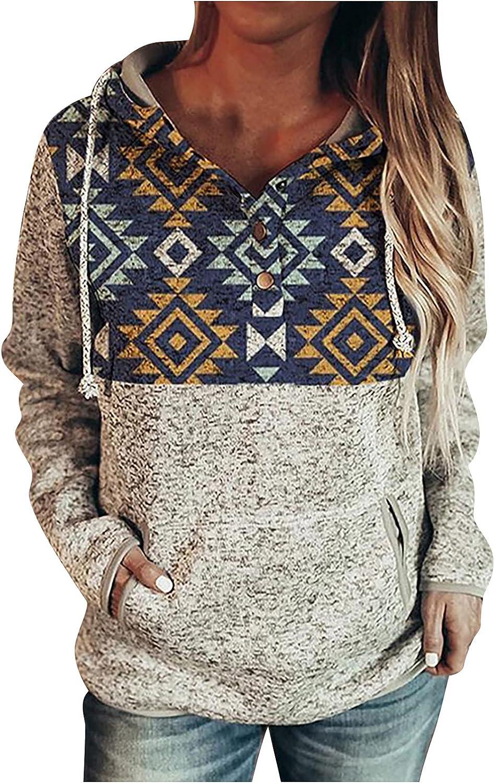 NEW before selling Fashion ☆ TARIENDY Womens Patchwork Sweatshirt Half Hoodies Button Fashion