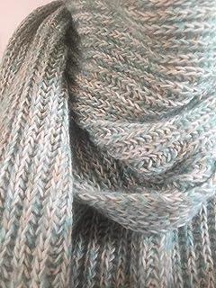Bufanda larga y ancha, de lana y algodón, unisexo