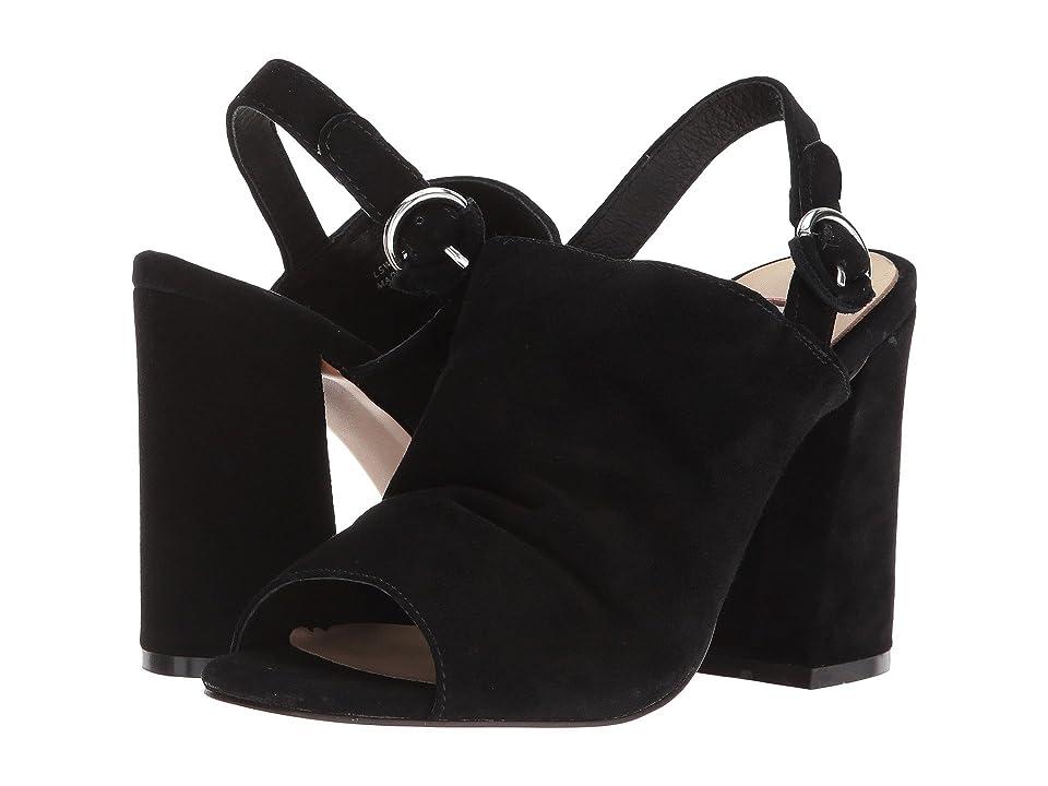 Kristin Cavallari Lilla Slingback Sandal (Black Kid Suede) High Heels