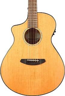 breedlove pursuit concert ebony acoustic electric guitar natural