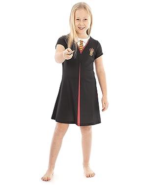 Vanilla Underground Harry Potter Gryffindor Cloak Black Costume Girls Cosplay Dress Kids Fancy Dress