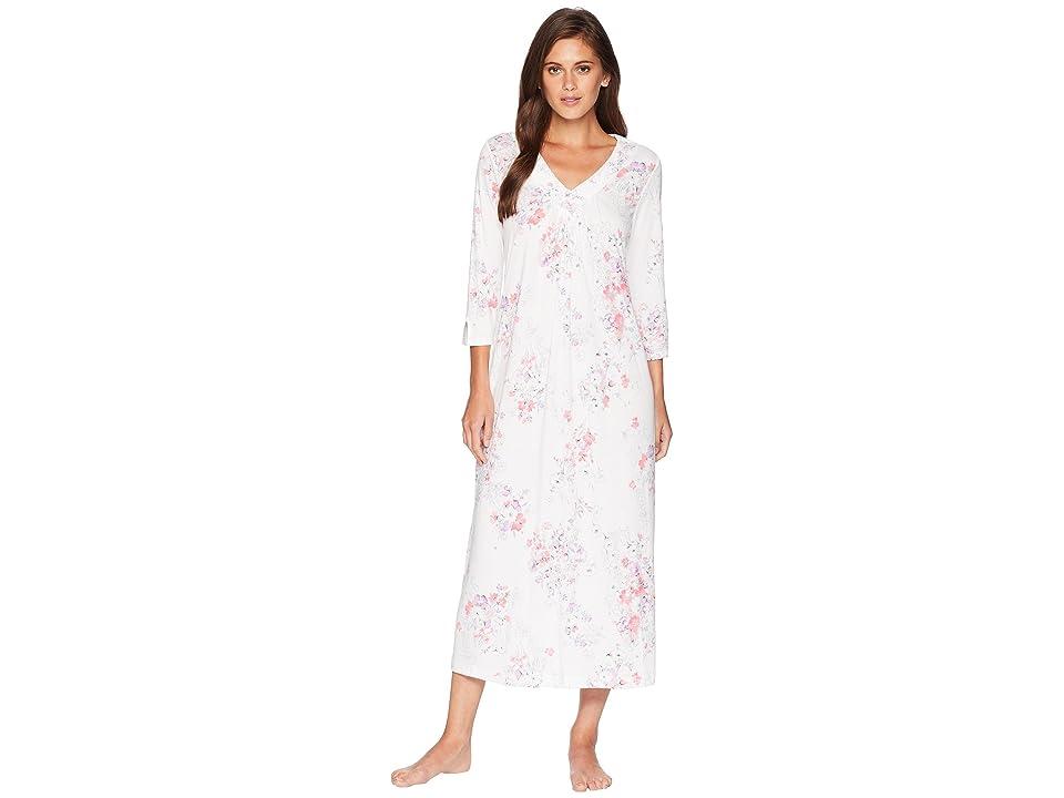 Carole Hochman 3/4 Sleeve Long Gown (Floral) Women