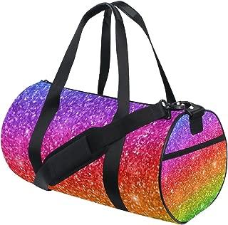 WIHVE Gym Duffel Bag Gold Cartoon Elephant Stars Sports Lightweight Canvas Travel Luggage Bag