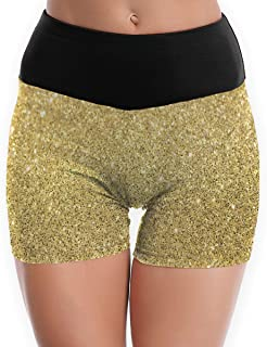 Compression Shorts Glitter Tumblr Backgrounds High Waist Yoga Shorts Non See Through Fight Shorts