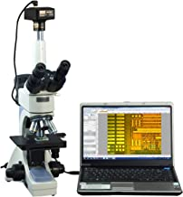 OMAX 40X-2500X Digital Infinity Trinocular Polarizing Metallurgical Microscope with 14MP Camera and 100X Dry Objective