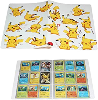 Trading Card Album Compatible with Pokemon Cards, Card Holders, TCG Support Binder Trading Card Games, Holds 240 Cards(Pik...