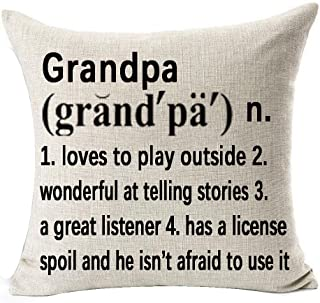 Best Grandpa Gifts Warm Sweet Sayings Grandpa Loves to Play Wonderful at Telling Stories Explanation Words Letters Cotton ...