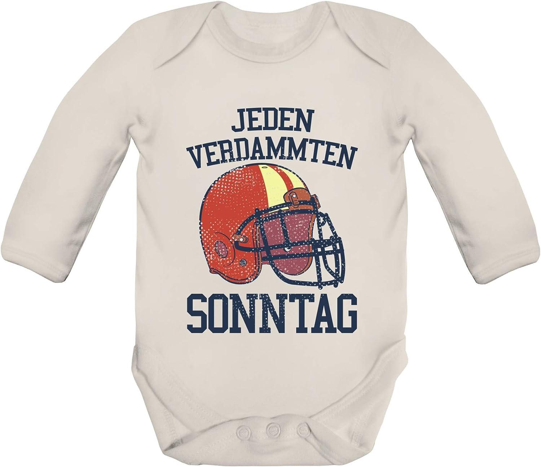ShirtStreet American Football Gruppen Fan Strampler Bio Baby Body Bodysuit langarm Jungen M/ädchen Jeden verdammten Sonntag 2