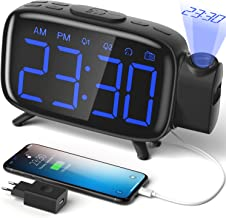 ELEHOT Despertador Digital Proyector Radio Despertador Reloj