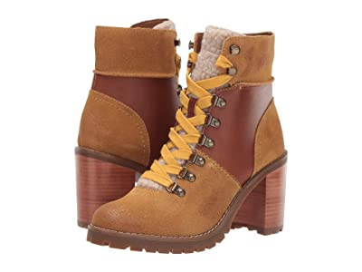FRYE AND CO. Rayner Hiker (Cognac Suede/Smooth Full Leather) Women