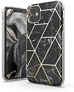 TiTiShark Marble Series Case for iPhone 11 Case, Slim Thin Glossy Soft TPU Rubber Gel Phone Case Cover Compatible iPhone 11 6.1 Inch 2019 Release-Black