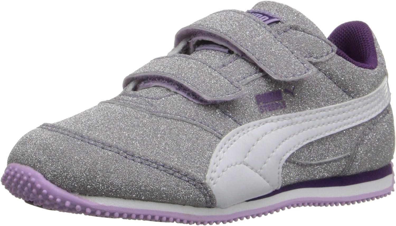 PUMA Steeple Glitz Aog V Kids Sparkle Sneaker (Toddler/Little Kid)