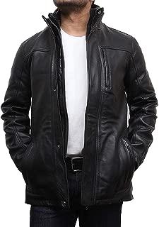 Brandslock Mens Genuine Biker Leather Jacket Coat Designer Style