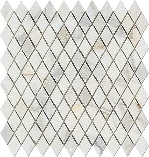 Calacatta Gold (Italian Calcutta) Marble Diamond - Rhomboid Mosaic Tile, Honed