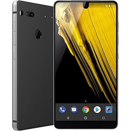Essential Phone in Halo Gray – 128 GB Unlocked Titanium and Ceramic phone with Edge-to-Edge Display