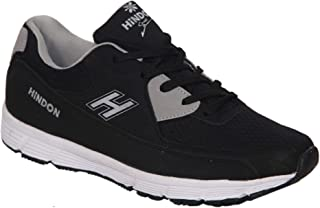 HINDON Running Shoes H Model Black/Grey(Size 9 UK/IND)