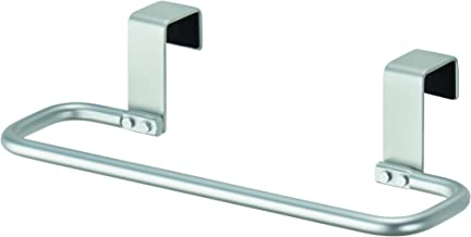 InterDesign Metro Aluminum Over-the-Cabinet Bathroom Hand Towel Bar Holder - Silver 22310EU