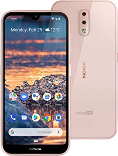 Nokia 4.2 Android One Smartphone (Official Australian Version) 2019 4G Unlocked Mobile Phone with Dual-Camera, Google Assistant Button, NFC, 32GB, Pink