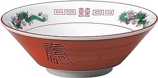 結彩の蔵 ラーメン鉢 赤巻三ツ竜 6.8寸 切立丼 ト688-086