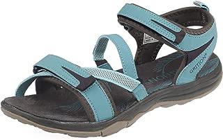 GRITION Womens Walking Sandals Lightweight Waterproof Athletic Trekking Shoes Open Toe Adjustable Strap Elastic Webbing Hiking