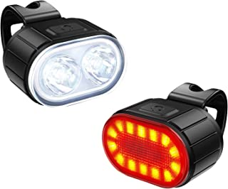 Bike Lights Front and Back, Te-Rich Rechargeable Front...