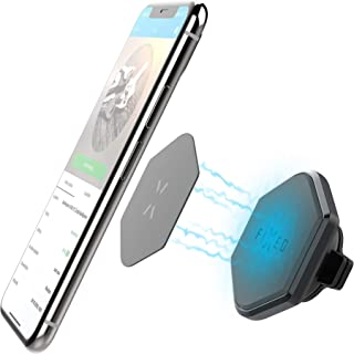 FIXED Icon Dash, Auto Handy Magnet Fürs Auto, Magnet Handyhalterung Kfz Handy Halterung Magnetplatten Lüftung Magnetkraft Mit 6 Magnete Und 2 Metallplatte Handy Halterung Pkw Mit Ladefunktion