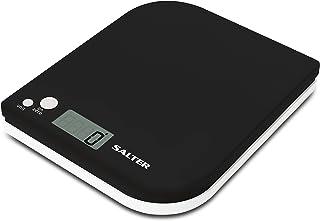 ميزان مطبخ إلكتروني من سالتر ، سعة 5 كيلو ، 1177BKWHDR - أسود / أبيض