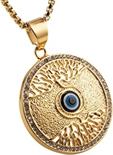 AsAlways Tree Of Life Eye of Horus Egypt Charm Jewelry Good Luck Success Amulet Friendship Pendant