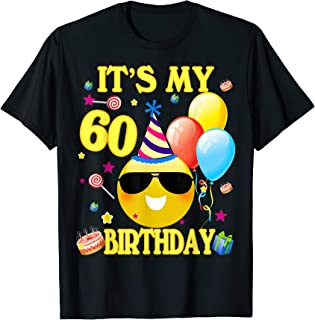 60th Emoji It's My Birthday Shirt 60 Years Old Gifts A2