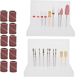 Nail Sanding Band, Nail Drill Bit Easy Storage with 10pcs Sanding Band for Household