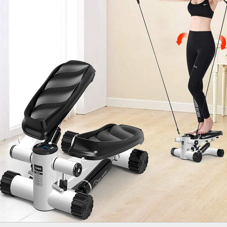 Aerobic-Stepper, Mini-Hydraulik-Stepping-Swing-Seil multifunktional einstellbar Heimtraining Fitness-Aerobic-Stepper für Haus und Büro Geschenke