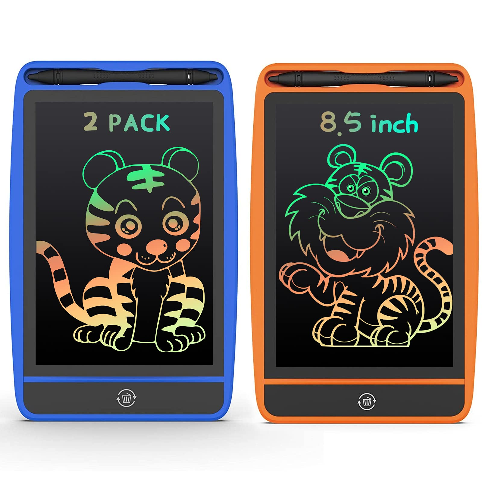 LCD screen writing board rewritable graffiti board color with screen lock drawing board electronic writing board home school office writing board learning educational toy travel car drawing board gift