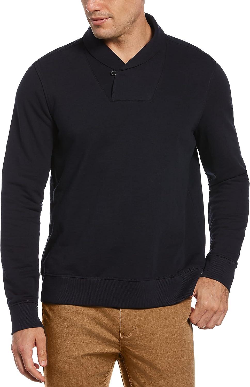 Perry Ellis Men's Shawl Collar Pullover Sweater