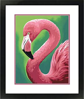 Dimensions Pink Flamingo Paint by Numbers Kit for Kids and Adults, 11'' x 14''