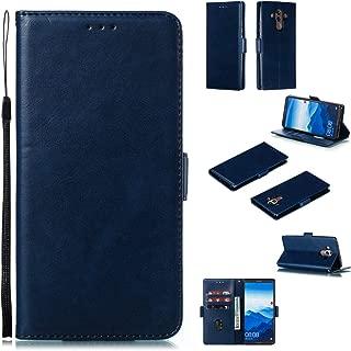 Docrax Huawei Mate10 Pro ケース 手帳型 スタンド機能 財布型 カードポケット マグネット ファーウェイMate10Pro 手帳型ケース レザーケース カバー - DOYTE010391 青