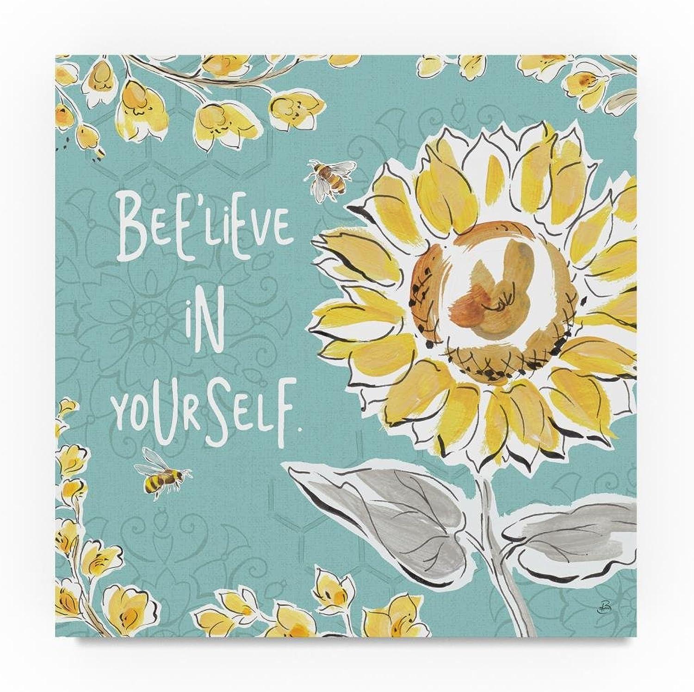 Trademark Fine Art Daphne Brissonnet Bee Happy V, 14x14-Inch