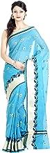 Chandrakala Women's Cotton Blend Indian Ethinc Banarasi Saree with Unstitched Blousepiece(1102)