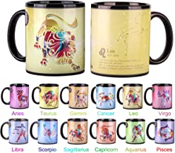 Heat Changing Constellation Mug 12 OZ Color Changing Mug with Gift Box for Women/Men-Leo