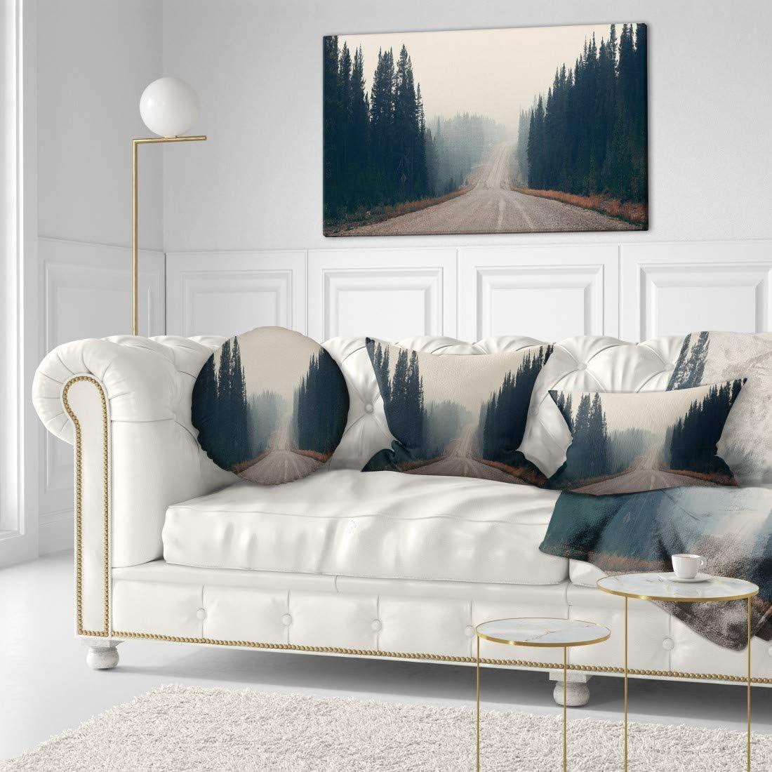 Design Art 奉呈 PT11546-40-20 Foggy Road Park-Mode Forest お気に入 in Banff